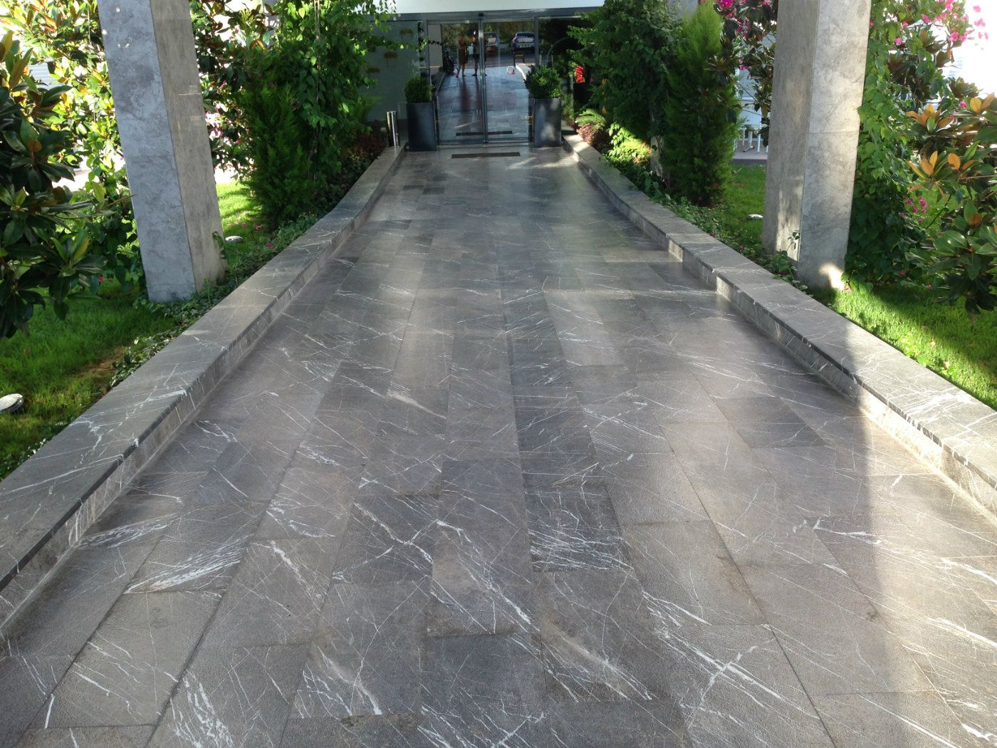 Emperador Dark Sand Blasted+Patinated Marble Applications