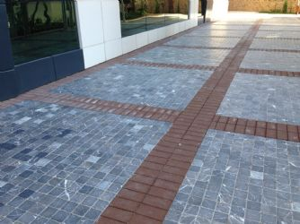Alanya Emperador Dark Tumbled Applications / Alanya Emperador Dark Tumbled