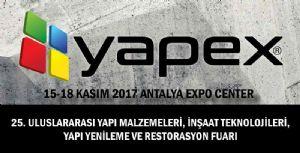 International Antalya Yapex Fair 15-18 November 2017